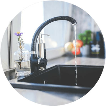water tap in kitchen