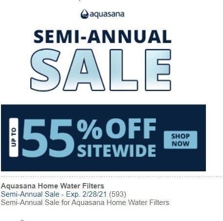 Aquasana Water Filter Systems Banner
